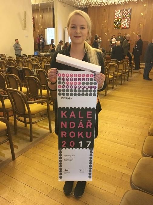 Skvělé ocenění studentské práce v soutěži KALENDÁŘ ROKU 2017