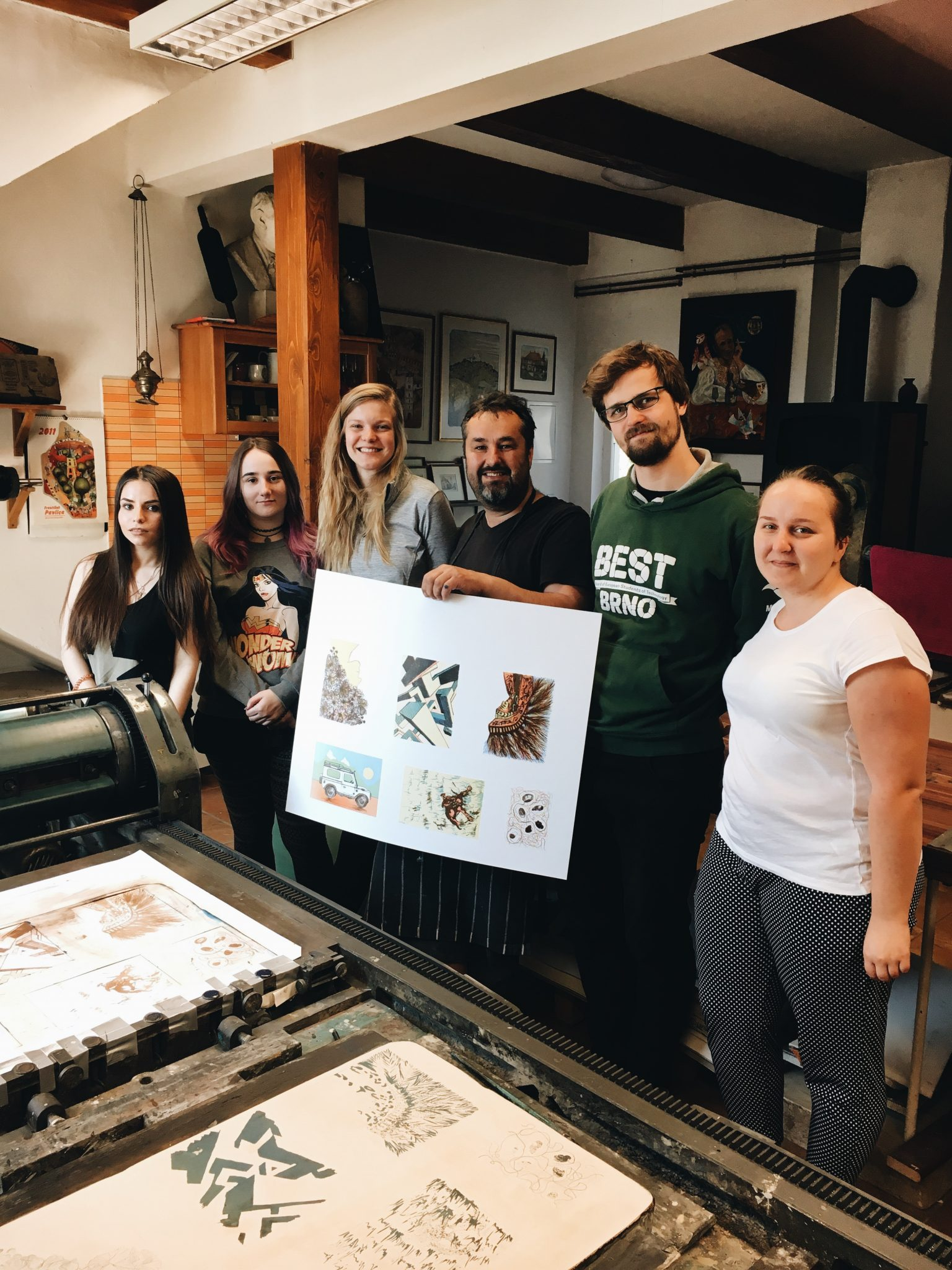 Workshop litografie s Františkem Pavlicou, duben 2018