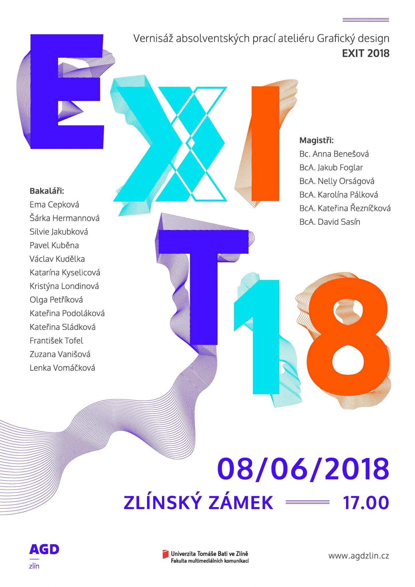 E X I T 18 — Pozvánka na výstavu absolventských prací